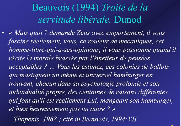 Beauvois - Traité de la servitude libérale